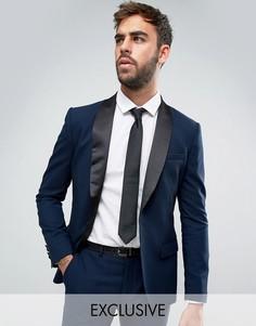 Супероблегающий пиджак под смокинг Only & Sons - Темно-синий