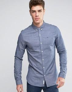 Темно-синяя оксфордская рубашка классического кроя на пуговицах Hilfiger Denim - Темно-синий