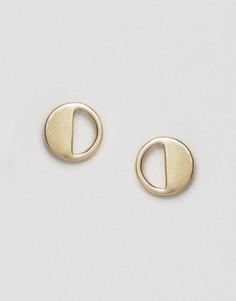 Серьги-гвоздики с вырезами Pieces Mathilde - Золотой