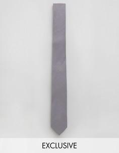 Галстук из шамбре Noak - Серый