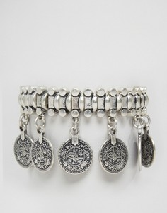 Массивный браслет с монетами Pilgrim - Серебряный