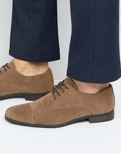 Светло-коричневые туфли из искусственной замши New Look - Рыжий