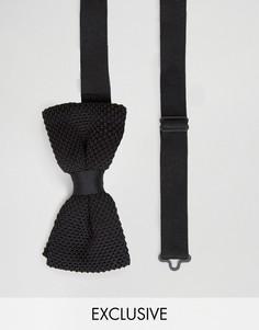 Вязаный галстук-бабочка Noose & Monkey - Черный