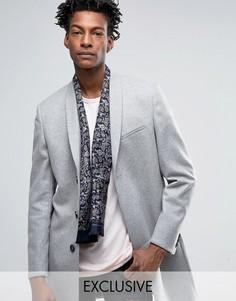 Шелковый шарф с принтом пейсли Heart & Dagger - Темно-синий