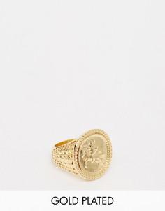 Золотистое кольцо ASOS Sovereign - Золотой