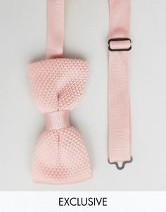 Вязаный галстук-бабочка Noose & Monkey - Розовый