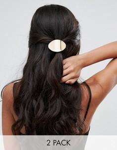 Заколка для волос с металлической пластиной Glamorous - Серебряный