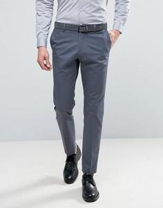Узкие брюки из эластичного хлопка Selected Homme - Синий