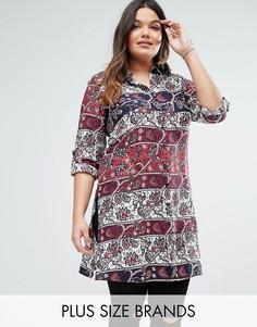 Платье-рубашка Diya Plus - Красный
