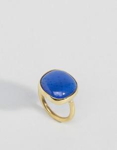 Кольцо с квадратной стеклянной вставкой Made - Золотой