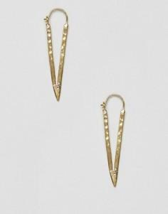 Серьги-треугольники Made - Золотой