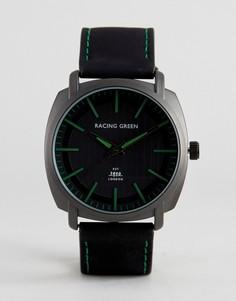 Черные часы с зеленой разметкой Racing Green - Черный