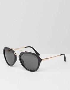 Солнцезащитные очки-авиаторы в матовой оправе A J Morgan - Черный