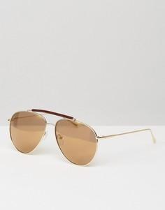 Солнцезащитные очки-авиаторы с золотистыми линзами A J Morgan - Золотой