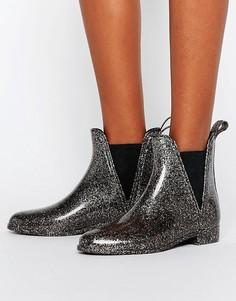 Резиновые ботинки челси ASOS GAME - Серебряный