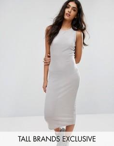 Длинное облегающее платье Daisy Street Tall - Серый