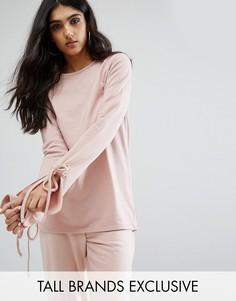 Длинный топ со шнуровкой на рукавах Daisy Street Tall - Розовый