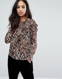 Блузка с леопардовым принтом Boohoo - Мульти