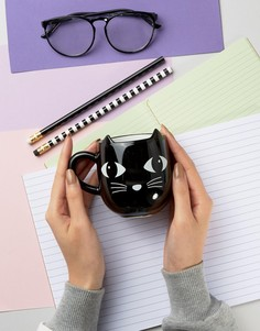 Черная кружка в виде кота Sass & Belle - Мульти