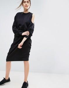 Платье с вырезом на одном плече ASOS WHITE - Черный