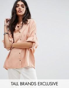 Свободная джинсовая рубашка Noisy May Tall - Розовый
