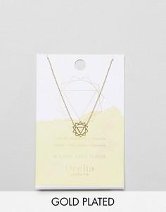 Позолоченное ожерелье с подвеской Solar Plexus Chakra Orelia - Золотой
