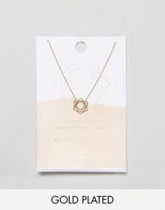 Позолоченное ожерелье с подвеской Orelia - Золотой