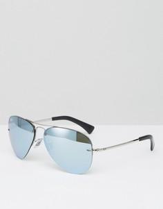 Солнцезащитные очки-авиаторы со светоотражающим покрытием Ray-Ban - Серебряный