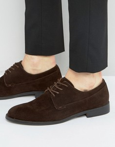 Темно-коричневые туфли дерби New Look - Коричневый