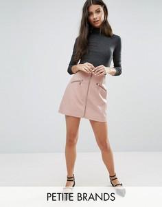 Юбка-трапеция на молнии New Look Petite - Розовый