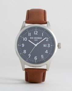 Часы со светло-коричневым кожаным ремешком Ben Sherman - Рыжий