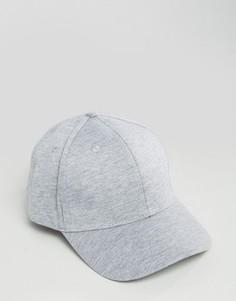 Серая трикотажная бейсболка New Look - Серый