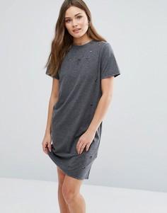 Платье-футболка New Look - Серый