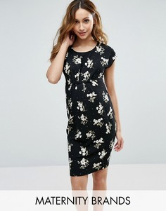 Цельнокройное платье с цветочным принтом New Look Maternity - Черный
