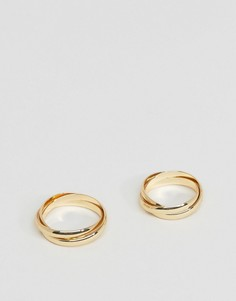 Золотистое кольцо в несколько оборотов DesignB London - Золотой