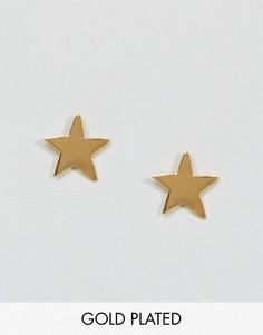 Серьги-гвоздики в форме звезды Ottoman Hands Signs & Symbols - Золотой