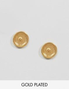 Серьги-гвоздики с символом Солнца Ottoman Hands - Золотой
