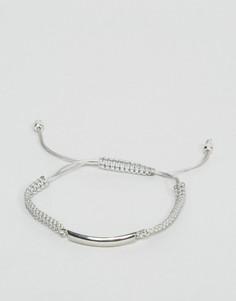 Серый плетеный веревочный браслет DesignB London - Серый