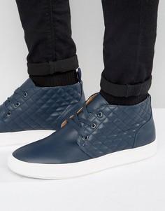 Кожаные кеды-ботинки чукка Steve Madden Quicker - Темно-синий