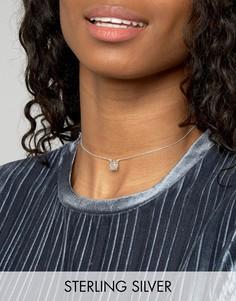 Серебряное ожерелье-чокер ASOS Fries Before Guys - Серебряный