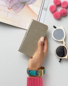 Кошелек для Iphone цвета металлик с перфорацией New Look - Золотой