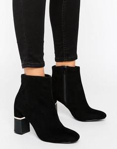 Полусапожки на двухцветном каблуке Miss Selfridge - Черный