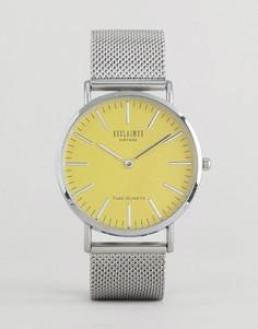 Часы с желтым циферблатом Reclaimed Vintage - Серебряный