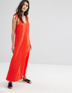 Красное платье без рукавов Selected Femme - Красный