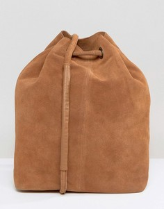 Замшевая сумка-мешок Selected Femme - Коричневый