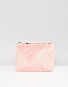Клатч из искусственного меха Skinnydip - Розовый