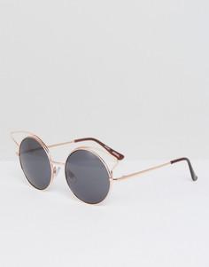 Солнцезащитные очки с зеркальными стеклами Monki - Золотой