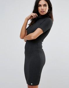 Платье-джемпер в рубчик Lipsy - Серый