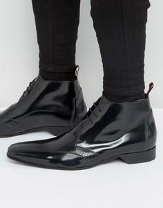 Ботинки чукка с перфорацией Jeffery West Escobar - Черный