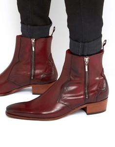Ботинки в стиле вестерн на молнии Jeffery West Carlito - Красный
